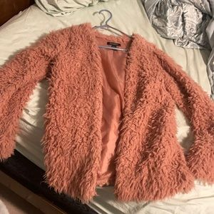 2/$40 Revamped Pink Fuzzy Jacket